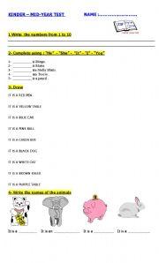English Worksheet: KINDER TEST