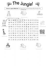 English Worksheets: Animals : Wild