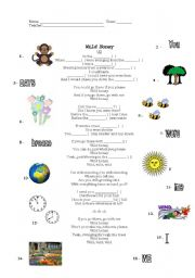 English Worksheets: Wild Honey - U2