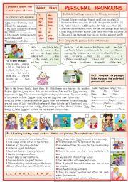 English Worksheet: Personal pronouns
