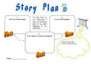 English Worksheet: story plan / book report