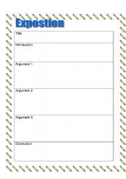 English Worksheets: Exposition