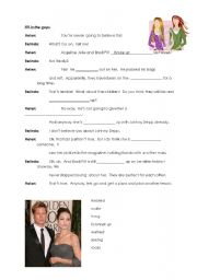 English Worksheet: Gossip! Slang and colloquialisms for stages of a relationship