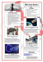 English Worksheets: BBC News Videos Week 6