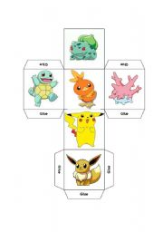 English Worksheet: DICE - LEARNING COLOURS THROUGH POKEMON PART 3