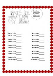 English Worksheets: multiple table worksheet 2 to 10