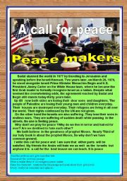 English Worksheets: Peace maker-A call for peace