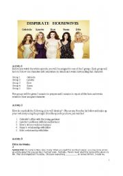 Desperate Housewives - comprehension and discussion activities (Pilot episode)