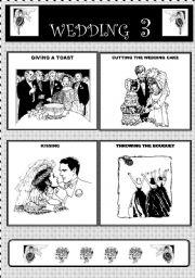 English Worksheet: Wedding actions - part III - flashcards
