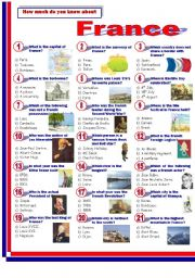 English Worksheet: France