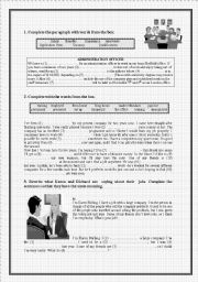 English Worksheets: Business English. (6 Pages Exercises on Vocabulary and Grammar with ANSWERS)