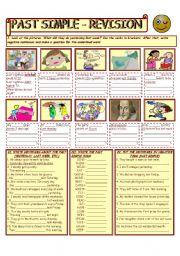 English Worksheet: PAST SIMPLE TENSE - REVISION