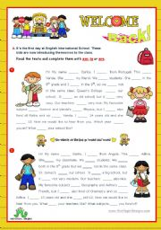 English Worksheet: Back to School  -  Grammar focus: am, is, are   (2/2)
