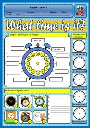 english worksheets telling the time. Black Bedroom Furniture Sets. Home Design Ideas