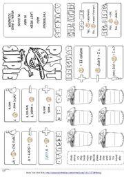 English Worksheet: Past Simple Tense - Mini Gramar Book