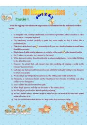 Exercise for idioms part 2&3