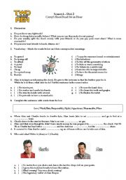 English Worksheets: Two and a Half Men - Video Activity - Money