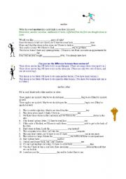 English Worksheet: another, other