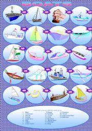 English Worksheet: BOATS MATCHING