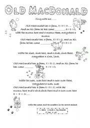 English Worksheets: Old MacDonald Song