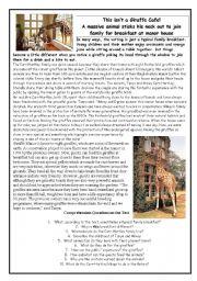 English Worksheet: Giraffe Hotel