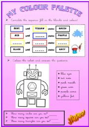 English worksheet: Colours and shapes