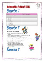 4 exercises Accommodation and travelling Vocabulary Builder