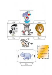 English Worksheet: DICE - LEARNING ABOUT MAMMALS -KEY INCLUDED