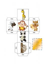English Worksheet: DICE - LEARNING ABOUT MAMMALS - KEY INCLUDED