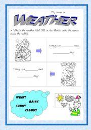 English worksheet: The weather