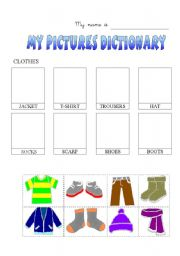English worksheet: Clothes-dictionary