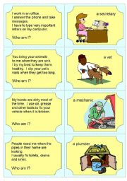English Worksheet: Occupation Riddles