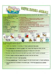 English Worksheet: Animal Idioms