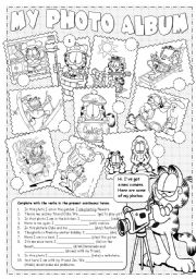 English Worksheet: Garfield�s Photo Album