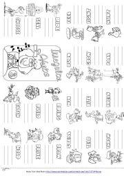 English Worksheet: Irregular Verbs Mini Book 3