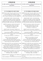 English Worksheets: Stand by me - Song Activity