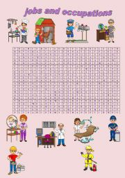 English Worksheets: WORDSEARCH JOBS AND OCCUPATIONS