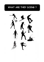English Worksheets: SILHOUETTES - ACTIVITIES