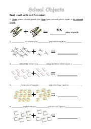 English worksheets: Classroom/school objects