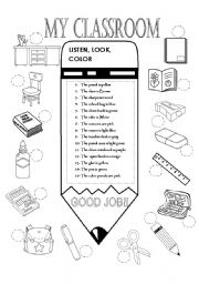 English Worksheets The Classroom Worksheets Page 11
