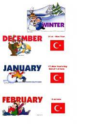 English Worksheet: seasons and holidays for TURKEY 1