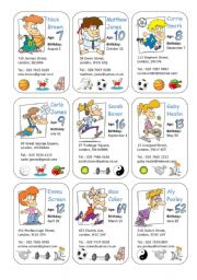 English Worksheets: At the Sport Centre - asking and giving personal information
