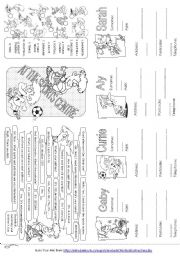 English Worksheet: At the Sport Centre - asking and giving personal information (1)