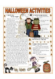 OCTOBER THEME - HALLOWEEN : READING -QUESTIONS AND ANALOGIES   (1/3)