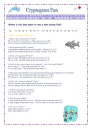 English Worksheets: Cryptogram or Secret Message 2