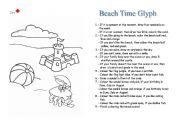 Beach Time Glyph