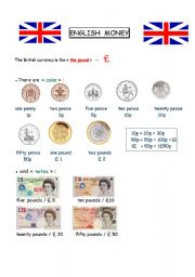 English Worksheet: English Money