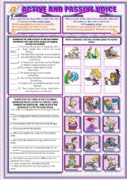 English Worksheets: ACTIVE AND PASSIVE VOICE