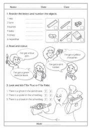 english test for primary school pdf