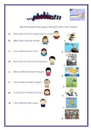 English Worksheets: Phobias